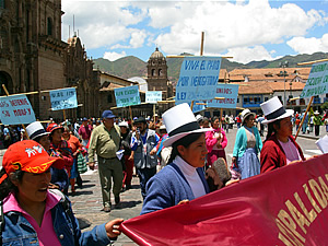 Movimiento de protesta a Cusco